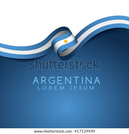 argentina flag ribbon   vector