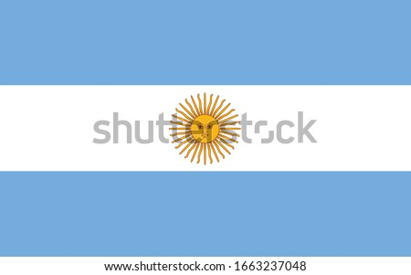 argentina flag vector graphic