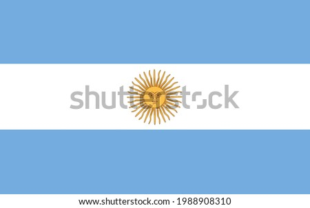 Argentina flag vector illustration. National symbol of southern America country.