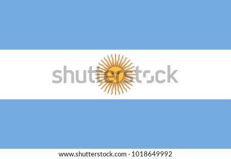 argentina flag with official
