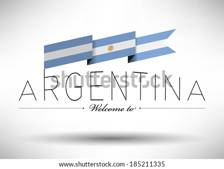argentina flag with typography