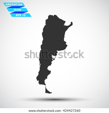 argentina  gray vector