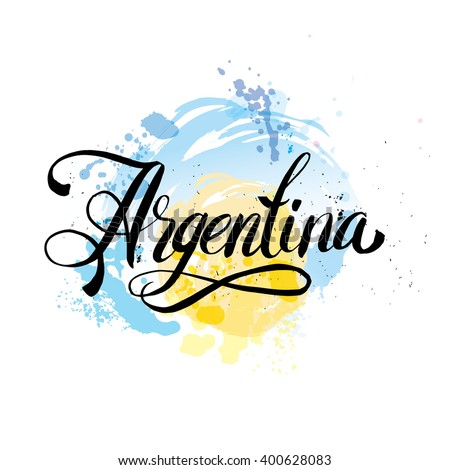 argentina hand lettering logo