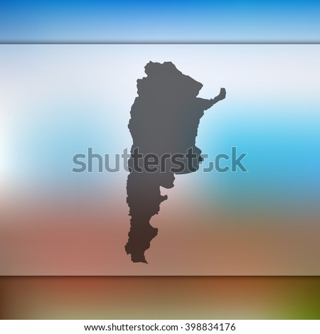 argentina map on blurred