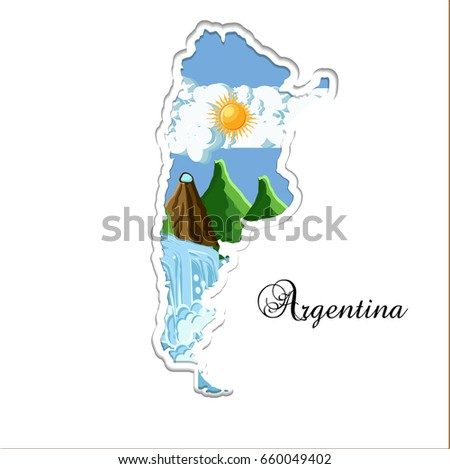 argentina map paper cutting