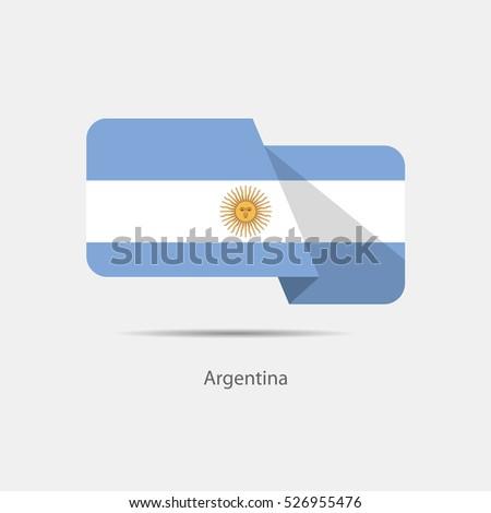argentina  national flag on a