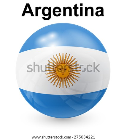 argentina official flag  button