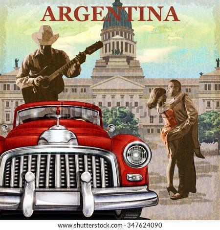 argentina  retro poster