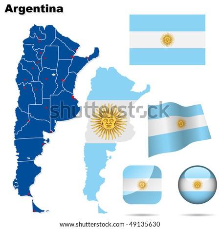 argentina vector set detailed