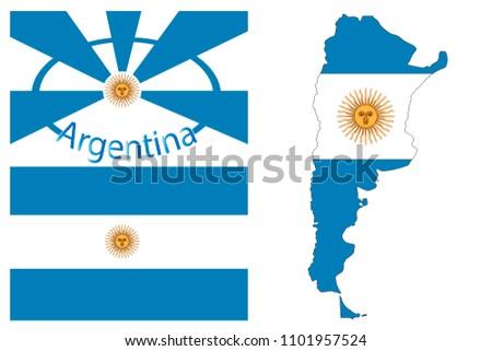 argentina vintage card   poster