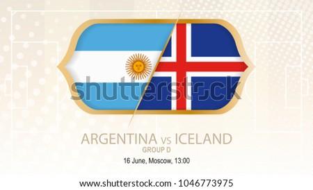 argentina vs iceland  group d