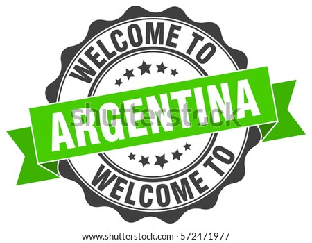 Argentina. Welcome to Argentina stamp