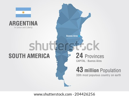 Free Vector Map of Argentina - Download Free Vector Art, Stock ...