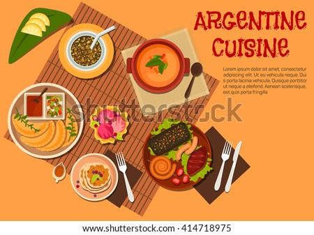 argentine cuisine with grilled