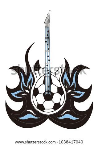 argentine football guitar ball