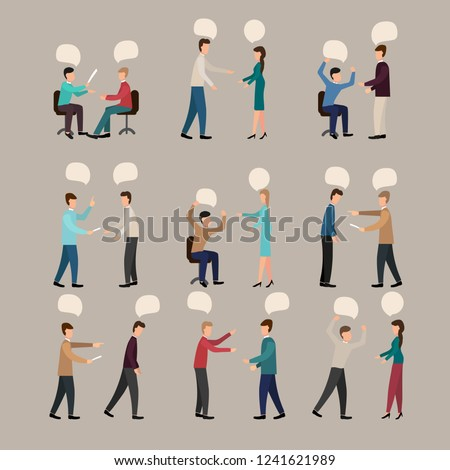 arguing people  vector