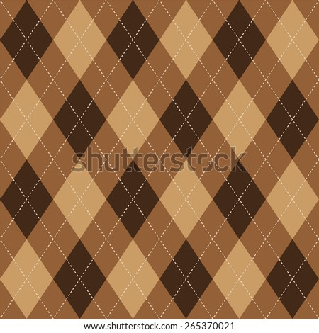 Argyle basic seamless texture brown rhombus pattern