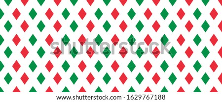 Argyle vector pattern Italy, italia Flag  Republic liberation labour day , Italian color Green and red diamonds Seamless geometric texture background Diamonds style Squares, square elements clothes