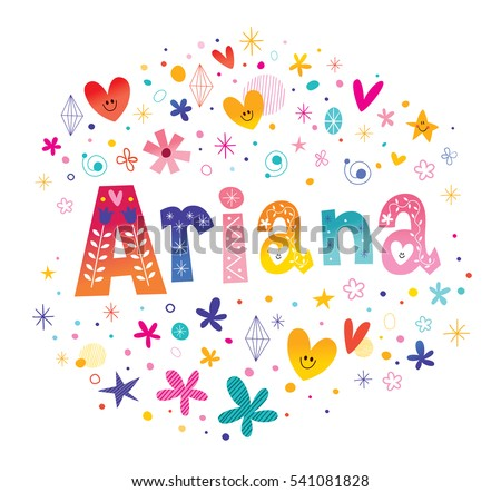 ariana girls name decorative