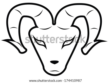 Aries Ram A More Abstract Version Of An Aries Head As A Symbol Of