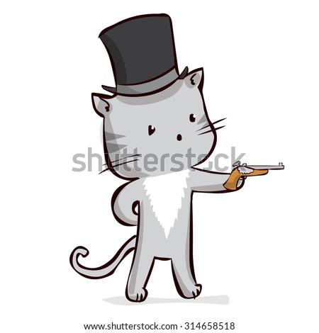 aristocrat cat at top hat with