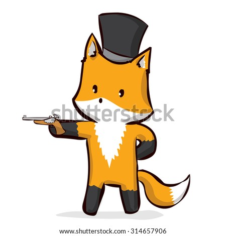 aristocrat fox at top hat with