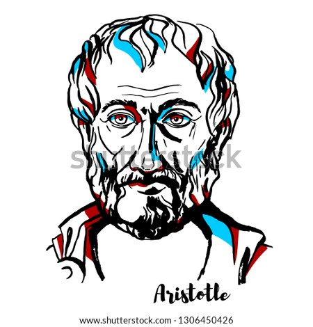 aristotle engraved vector