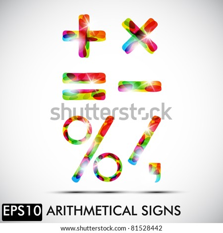 Arithmetical signs, eps10