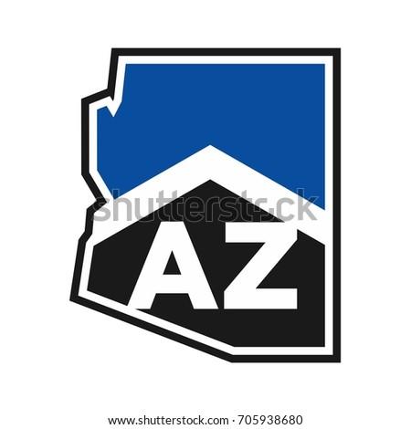 arizona and home symbol vector