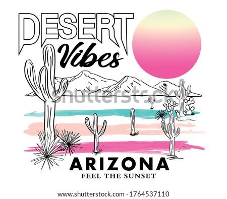Arizona desert vibes t-shirt design Stockfoto ©