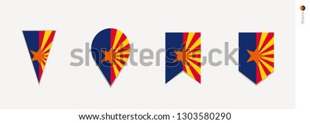 Arizona flag in vertical design, vector illustration.