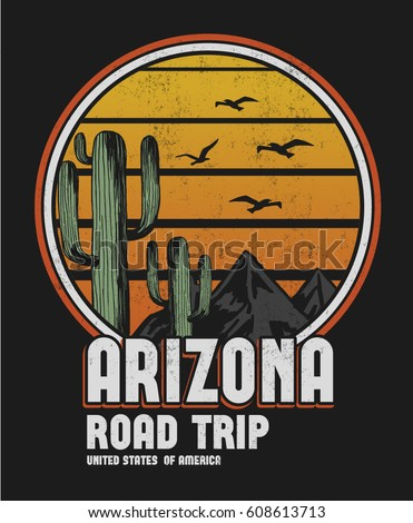 arizona print design for t
