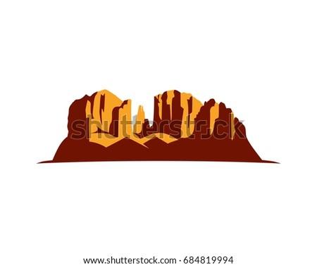 arizona red rock silhouette