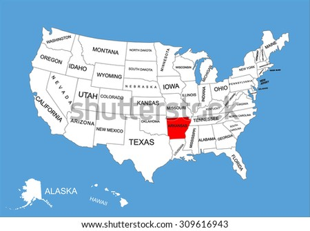 Us Map With Texas Highlighted - Texas on the us map