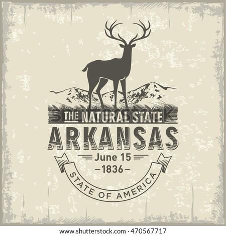 arkansas  stylized emblem of...