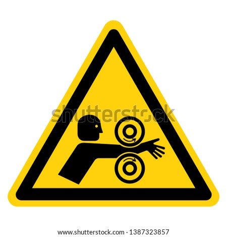 Arm Entangle Rollers Right Symbol Sign, Vector Illustration, Isolate On White Background Label .EPS10