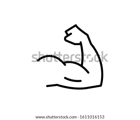 Arm line icon. High quality outline symbol for web design or mobile app. Thin line sign for design logo. Black outline pictogram on white background