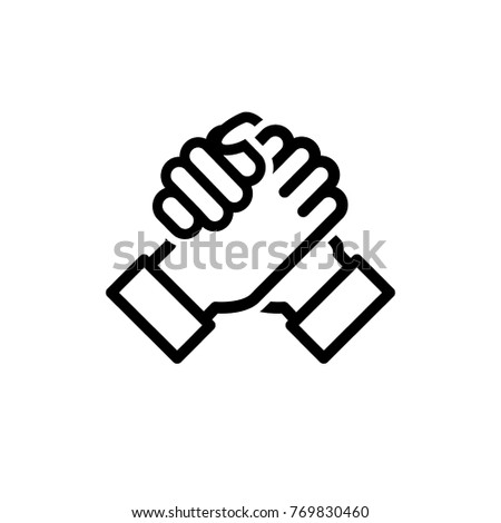 arm trust icon vector