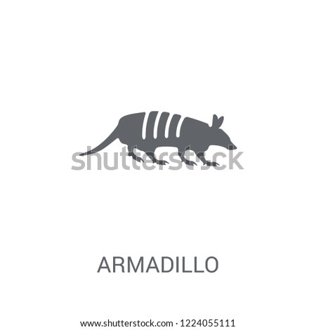 Armadillo icon. Trendy Armadillo logo concept on white background from animals collection. Suitable for use on web apps, mobile apps and print media.
