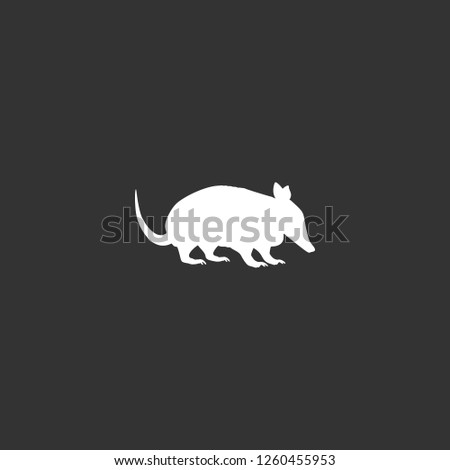 armadillo icon vector. armadillo sign on black background. armadillo icon for web and app