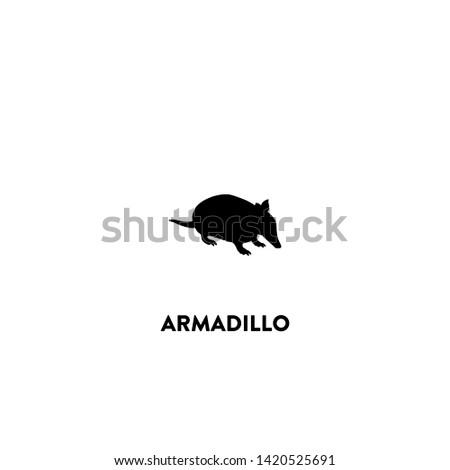 armadillo icon vector. armadillo sign on white background. armadillo icon for web and app