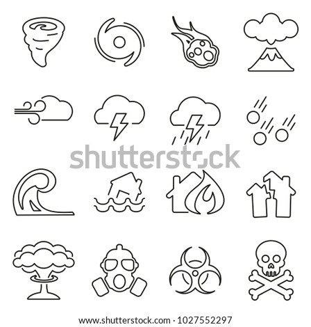 armageddon or disaster icons