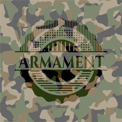 Armament on camo pattern
