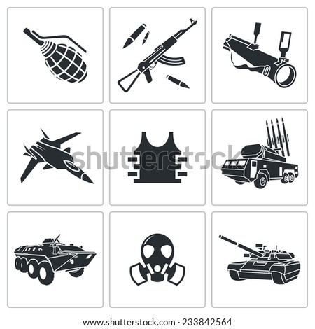 armament vector isolated flat