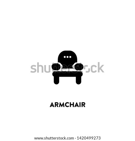 armchair icon vector. armchair sign on white background. armchair icon for web and app