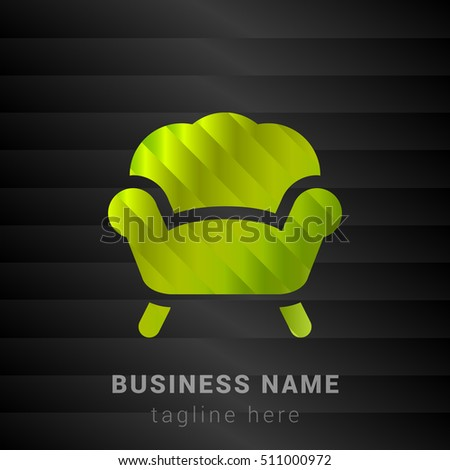 armchair lime green and black