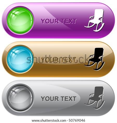 Armchair. Vector internet buttons.