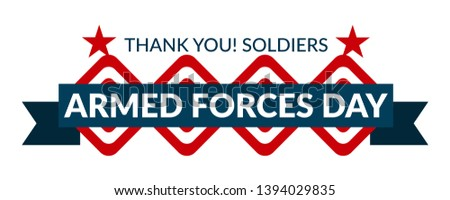 Armed forces day template poster design. Vector illustration of background for Armed forces day.Illustration of Armed forces day of USA. - Vector