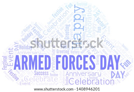 Armed Forces Day Word Cloud. Word cloud Made With Text.