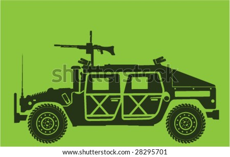 armed forces land vehicle with
